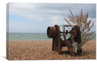 Old Beach Junk, Canvas Print
