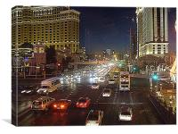 Las Vegas Road, Canvas Print