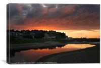 Ballycastle sunset, Canvas Print
