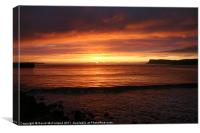 Ballycastle Dawn, Canvas Print