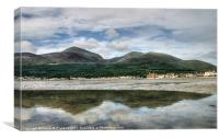 Newcastle beach, County Down, Canvas Print
