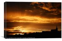 Dungannon Sunset, Canvas Print