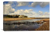 Low tide at Ballycastle, Canvas Print