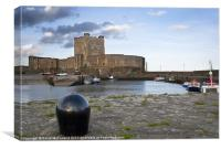 Carrickfergus Castle and historic harbour, Canvas Print