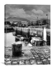 Sheltering in Annalong Harbour, Canvas Print