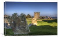 Kilclief Churchyard and Castle, Canvas Print