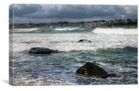 Ballycastle Waves, Canvas Print