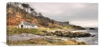 Murlough Bay Cottage, County Antrim, Canvas Print
