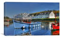 Cushendun harbour reflections, Canvas Print