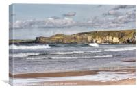 The White Rocks, Portrush, Canvas Print
