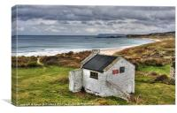 Old hostel, Whitepark Bay, Canvas Print