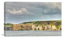 Dunluce and the White Rocks, Canvas Print