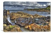 Smooth Rocks at Ballycastle, Canvas Print