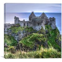 Clifftop Dunluce, Canvas Print
