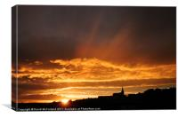 Glorious Dungannon Sunset, Canvas Print