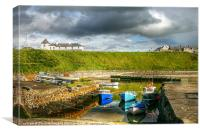 Portballintrae Harbour, Canvas Print