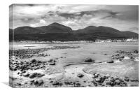 Newcastle beach and Slieve Donard, Canvas Print