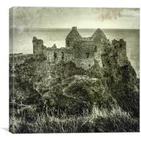 Old Dunluce Castle, Canvas Print