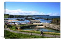 Bank Holiday at Ballintoy, Canvas Print
