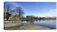 Lurgan Park in winter, Canvas Print