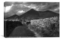 Mourne Sunlight and Shadows, Canvas Print