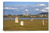 Errigal stones, Canvas Print
