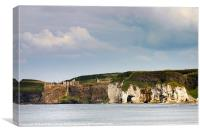 Cliff and castle, Canvas Print