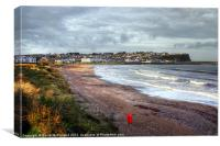 Bracing Ballycastle Beach, Canvas Print