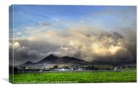 Angry clouds over Binian, Canvas Print