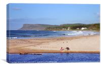 Ballycastle Sandcastles, Canvas Print