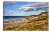 White Rocks beach, Portrush, Canvas Print