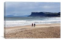 Wintry walk at Ballycastle, Canvas Print