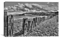Cushendun beach, Canvas Print