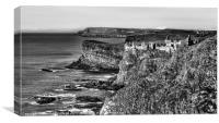 Cliff-top Castle, Canvas Print