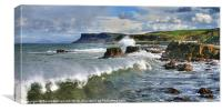 Ballycastle panorama, Canvas Print