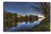 Reflection on the Upper Bann, Canvas Print