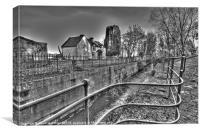 Moneypennys Lock, Portadown, Canvas Print