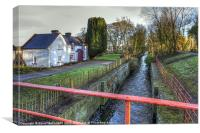 Lock-keepers cottage on the Newry Canal, Canvas Print