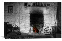 Home at the hearth, Canvas Print