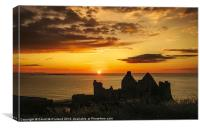 Evening at Dunluce Castle, Canvas Print