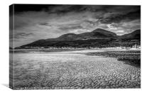 Slieve Donard and Newcastle, Canvas Print