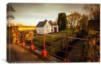Moneypennys Lock, Portadown, Canvas Print