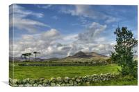 Slieve Binian sunshine, Canvas Print