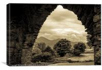Mourne view arch, Canvas Print