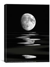 Lunar water, Canvas Print