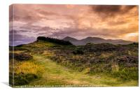 Sunset over Slieve Donard, Canvas Print