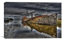 Lough Neagh Sand Barge, Canvas Print