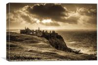 Historic Dunluce Castle (Dún Libhse), Canvas Print