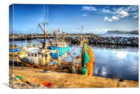 Fishing boats at Ballycastle, Canvas Print
