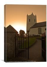 Ballintoy Church evening, Canvas Print